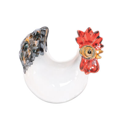 """Vietri """"Fortunata"""" Rooster Footed Small Bowl from Italy"""