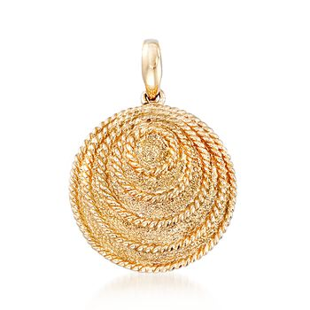 14kt Yellow Gold Concentric Circle Pendant, , default