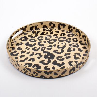 Leopard-Print Round Tray