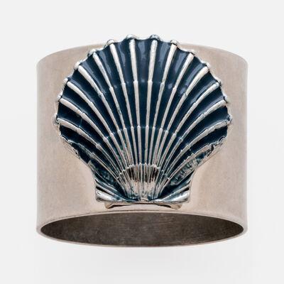 Joanna Buchanan Set of 2 Blue Seashell Napkin Rings, , default