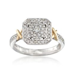 .50 ct. t.w. Diamond Illusion Halo Ring in 14kt Two-Tone Gold, , default