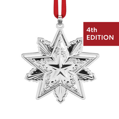 Reed & Barton 2020 Annual Sterling Silver Star Ornament - 4th Edition