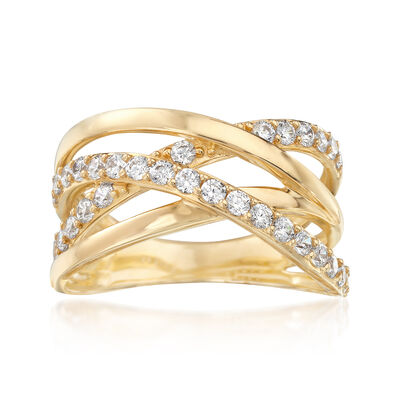 .69 ct. t.w. CZ Highway Ring in 14kt Yellow Gold, , default