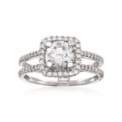 Simon G. .33 ct. t.w. Diamond Engagement Ring Setting in 18kt White Gold, , default