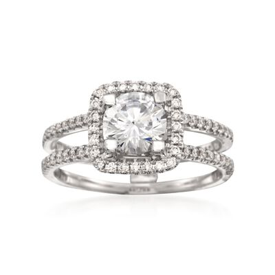 Simon G. .33 ct. t.w. Diamond Engagement Ring Setting in 18kt White Gold, , default