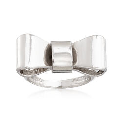 Italian Sterling Silver Bow Ring , , default
