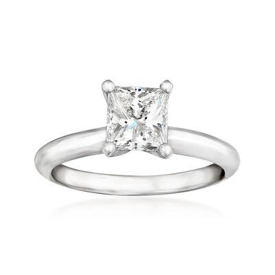 1.01 Carat Certified Diamond Solitaire Ring in Platinum