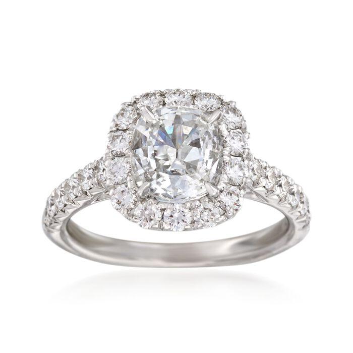 Henri Daussi 2.12 ct. t.w. Certified Diamond Engagement ... - photo #19