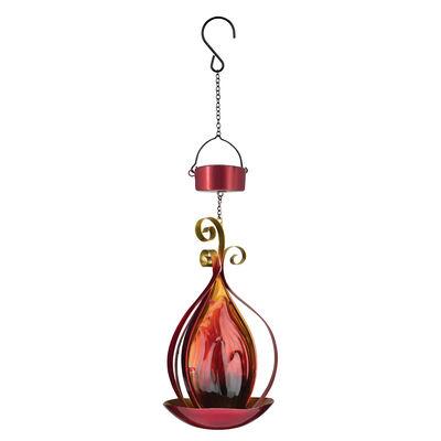 Regal Blaze Red Solar Hanging Lantern