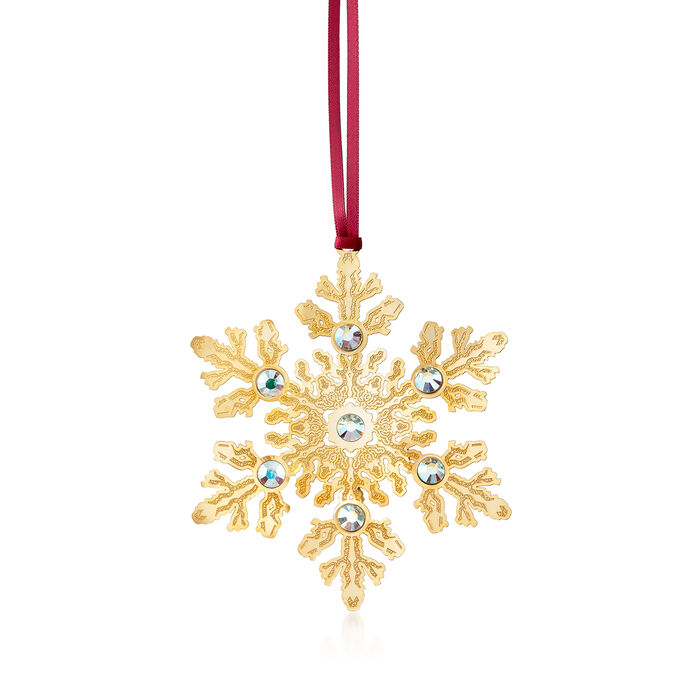 Snowflake Crystal Ornament, , default