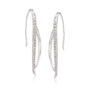 .54 ct. t.w. Diamond Linear Earrings in Sterling Silver, , default