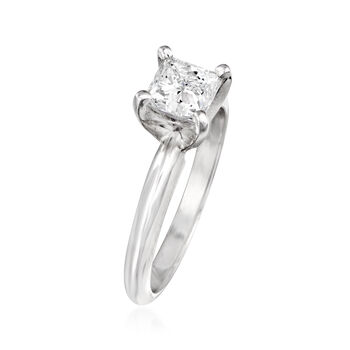 1.01 Carat Certified Diamond Engagement Ring in 14kt White Gold. Size 6