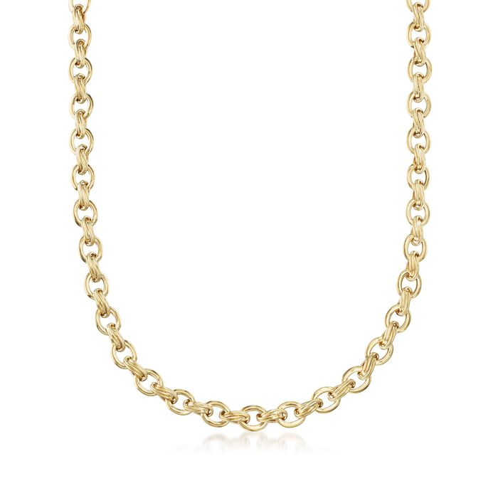 """18kt Yellow Gold Oval-Link Necklace. 20"""", , default"""