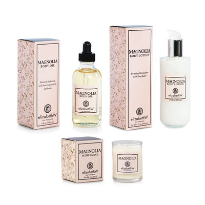 Magnolia Candle, Body Oil and Lotion Set