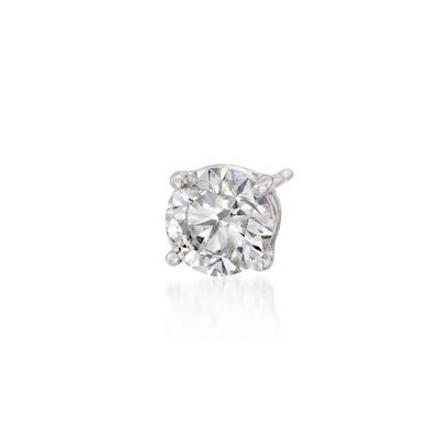 .75 Carat Diamond Single Stud Earring in 14kt White Gold, , default
