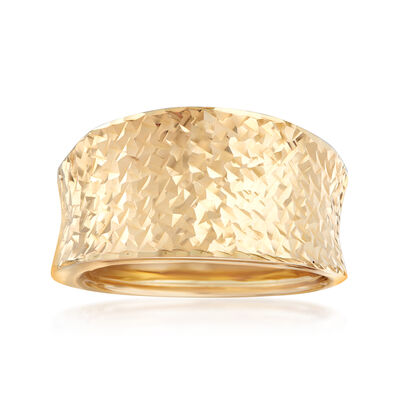 Italian 14kt Yellow Gold Concave Ring , , default