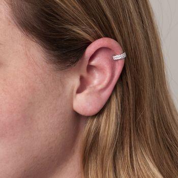.40 ct. t.w. CZ Single Ear Cuff in Sterling Silver, , default