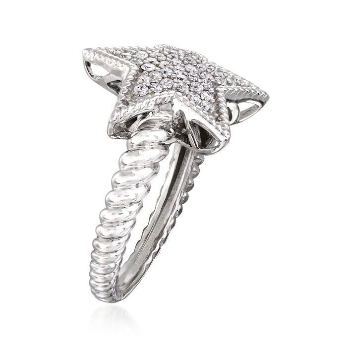 .33 ct. t.w. Diamond Star Ring in Sterling Silver