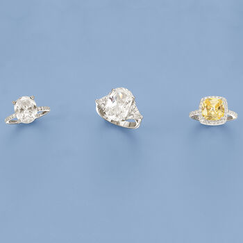 3.40 ct. t.w. Yellow and White CZ Ring in Sterling Silver