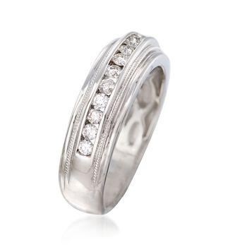 Men's .50 ct. t.w. Diamond Wedding Ring in 14kt White Gold