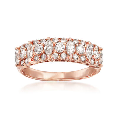 1.00 ct. t.w. Diamond Ring in 14kt Rose Gold, , default
