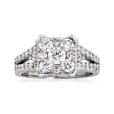 C. 2000 Vintage 1.55 ct. t.w. Diamond Ring in 14kt White Gold, , default