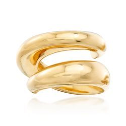 Italian 18kt Gold Over Sterling Spiral Ring, , default