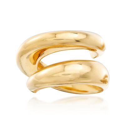 Italian 18kt Gold Over Sterling Spiral Ring, , default