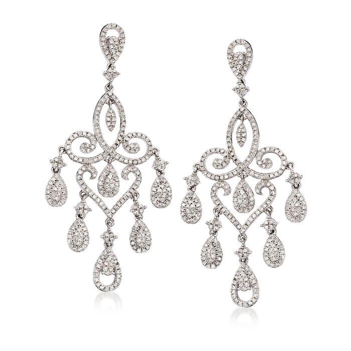 1.75 ct. t.w. Diamond Chandelier Drop Earrings in 14kt White Gold
