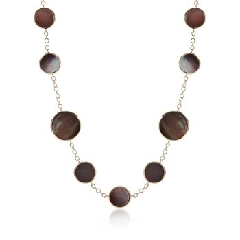 """C. 2013 Ippolita """"Rock Candy"""" Black Mother-Of-Pearl Station Necklace in 18kt Yellow Gold. 16"""", , default"""