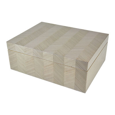 Taupe Chevron Wooden Box