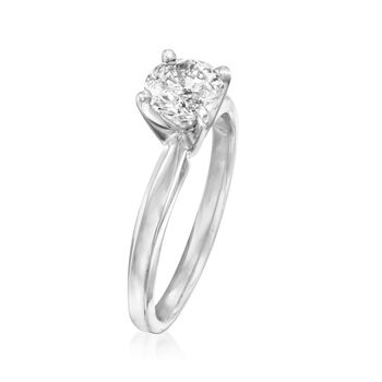1.00 Carat Diamond Solitaire Ring in 14kt White Gold, , default