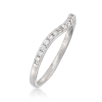 .20 ct. t.w. Diamond Wedding Ring in 14kt White Gold, , default