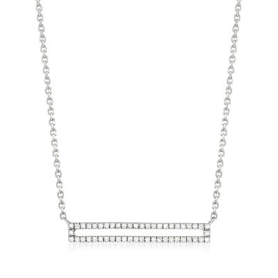 .15 ct. t.w. Diamond Open-Bar Necklace in Sterling Silver