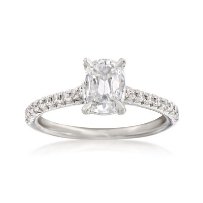 Henri Daussi 1.21 ct. t.w. Certified Diamond Engagement Ring in 18kt White Gold, , default
