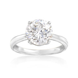 3.00 Carat CZ Ring in 14kt White Gold, , default