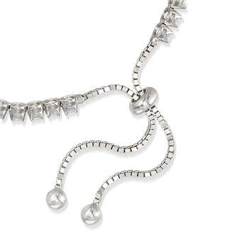 3.50 ct. t.w. CZ Bolo Tennis Bracelet in Sterling Silver