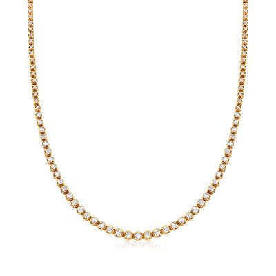 C. 2000 Vintage 5.00 ct. t.w. Diamond Tennis Necklace in 14kt Yellow Gold, , default