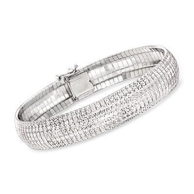 Charles Garnier Sterling Silver Omega Bracelet