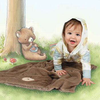 """Bunnies by the Bay """"Tuck Me In"""" Cubby the Bear Blanket, , default"""