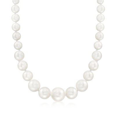 8-16mm Shell Pearl Necklace With Sterling Silver, , default