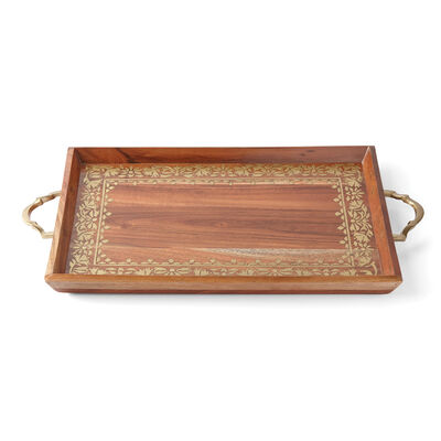 "Lenox ""Global Tapestry"" Wooden Rectangular Tray, , default"