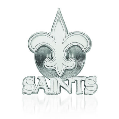 Sterling Silver NFL New Orleans Saints Lapel Pin, , default