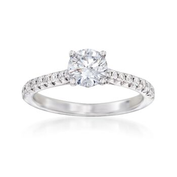 .23 ct. t.w. Diamond Engagement Setting in 14kt White Gold, , default