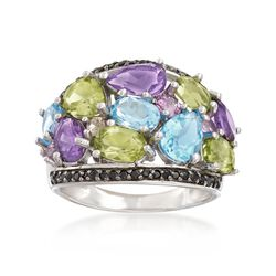 5.19 ct. t.w. Multi-Stone Ring in Sterling Silver, , default