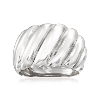 Italian Sterling Silver Shrimp Ring