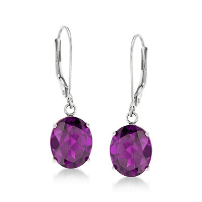 4.80 ct. t.w. Amethyst Drop Earrings in 14kt White Gold, , default