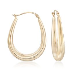 14kt Yellow Gold Graduated Hoop Earrings, , default
