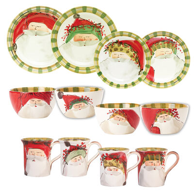 """Vietri """"Old St. Nick"""" Assorted Dinnerware from Italy"""