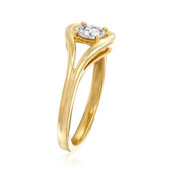.25 Carat Diamond Loop Ring in 18kt Gold Over Sterling, , default